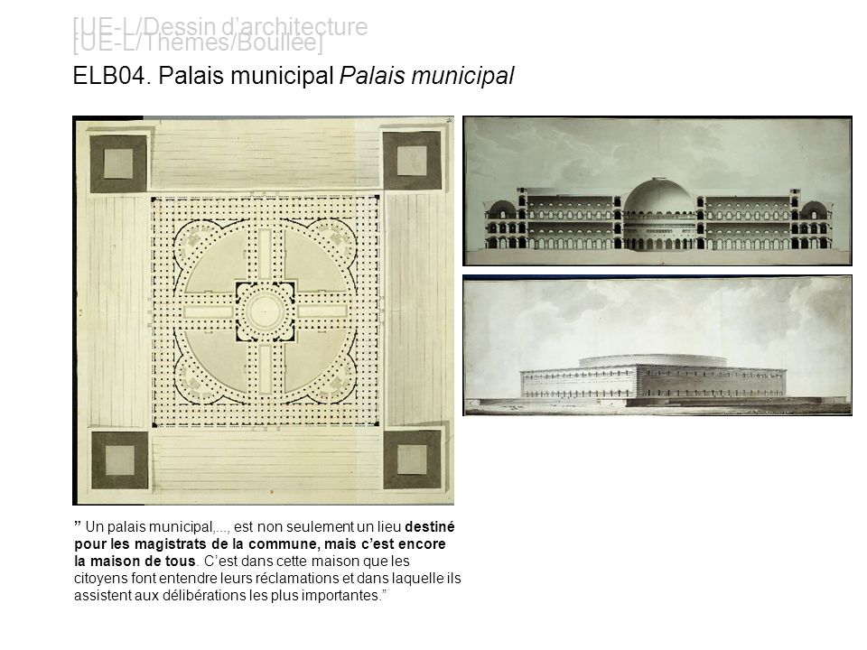 [UE-L/Dessin d'architecture